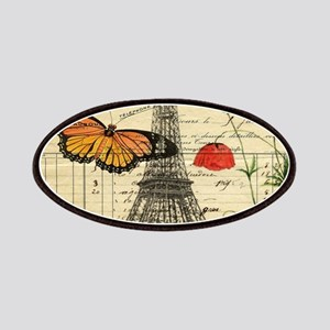 vintage butterfly paris eiffel tower Patch