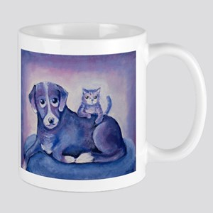 I've got your back dog and cat painting Mugs