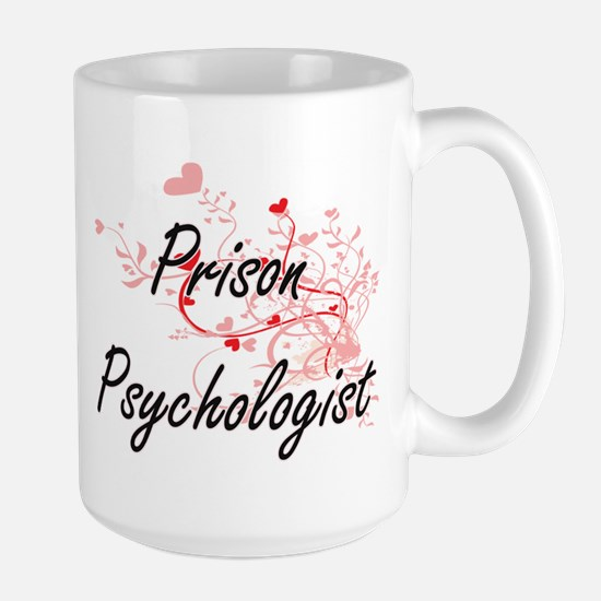 Prison Psychologist Artistic Job Design with Mugs