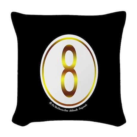 8 Ball Billiard Ball Woven Throw Pillow