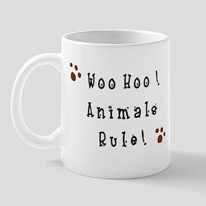 Woo Hoo! Animals Rule! Mug