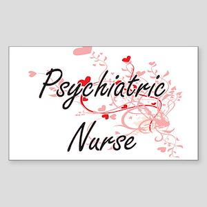 Psychiatric Nurse Artistic Job Design with Sticker