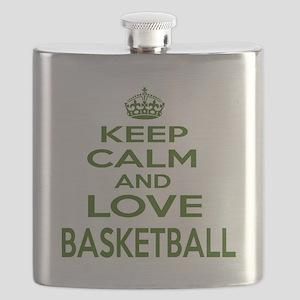 Keep calm and love Basketball Flask