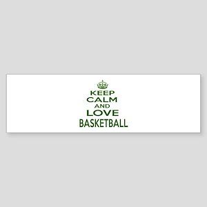 Keep calm and love Basketball Sticker (Bumper)