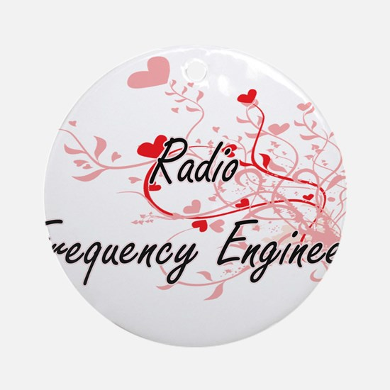 Radio Frequency Engineer Artistic J Round Ornament