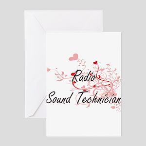 Radio Sound Technician Artistic Job Greeting Cards