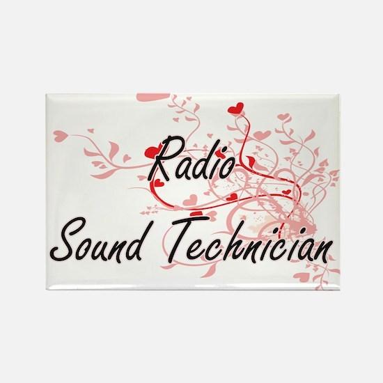 Radio Sound Technician Artistic Job Design Magnets