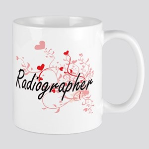 Radiographer Artistic Job Design with Hearts Mugs
