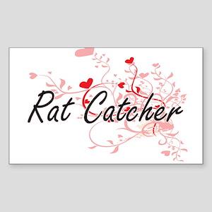 Rat Catcher Artistic Job Design with Heart Sticker