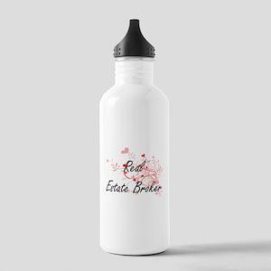 Real Estate Broker Art Stainless Water Bottle 1.0L