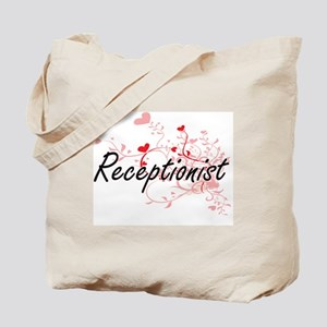 Receptionist Artistic Job Design with Hea Tote Bag