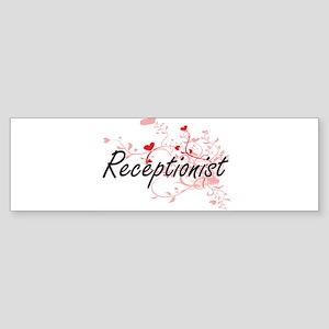 Receptionist Artistic Job Design wi Bumper Sticker
