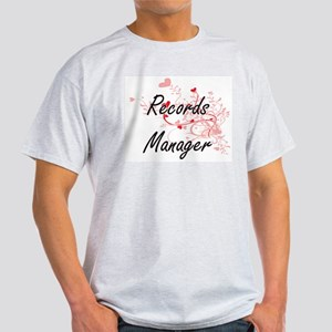 Records Manager Artistic Job Design with H T-Shirt