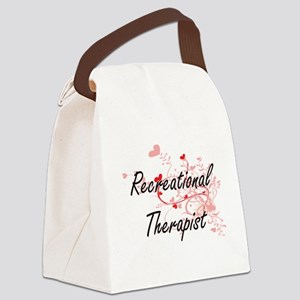 Recreational Therapist Artistic J Canvas Lunch Bag