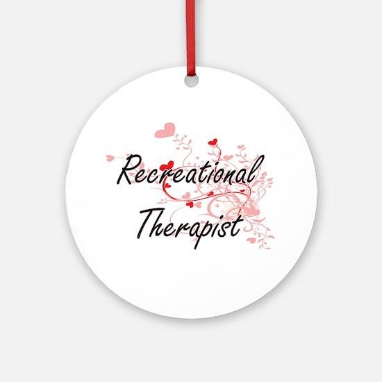 Recreational Therapist Artistic Job Round Ornament