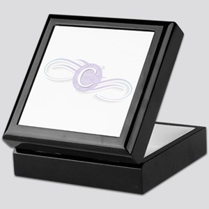 Monogram C Swirl Keepsake Box