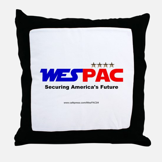 """WesPAC"" NEW Throw Pillow"