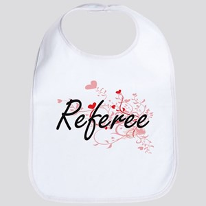 Referee Artistic Job Design with Hearts Bib