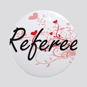 Referee Artistic Job Design with He Round Ornament