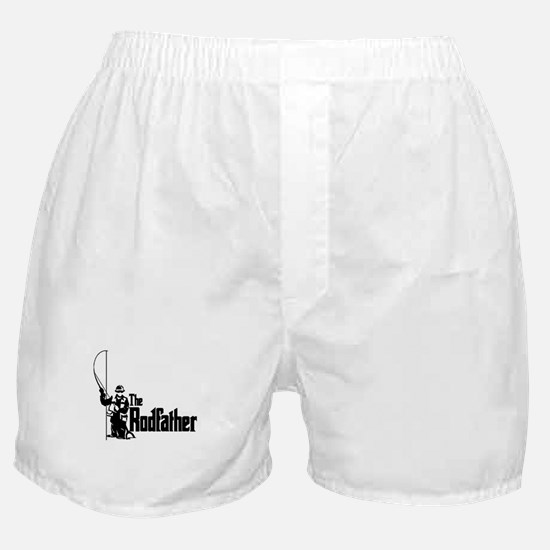 The Rodfather Fun Fishing Quote for him Boxer Shor