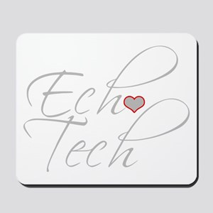 Cursive Ech(Heart) Gray Mousepad