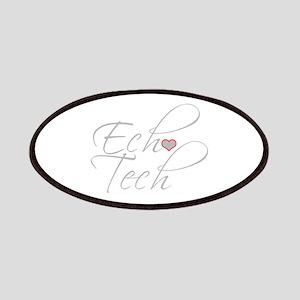 Cursive Ech(Heart) Gray Patch