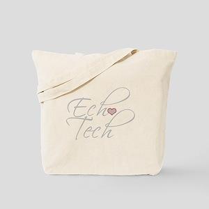 Cursive Ech(Heart) Gray Tote Bag