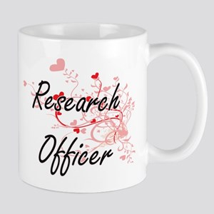 Research Officer Artistic Job Design with Hea Mugs