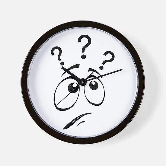 Funny Question mark Wall Clock
