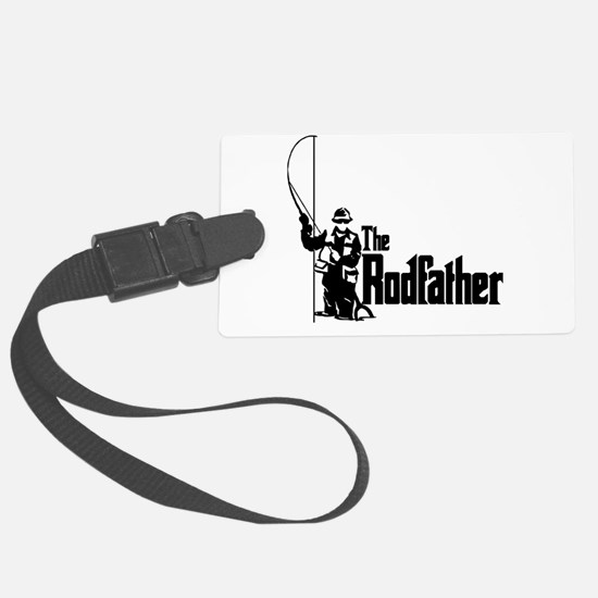 The Rodfather Fun Fishing Quote for him Luggage Tag