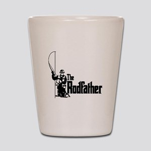 The Rodfather Fun Fishing Quote for him Shot Glass