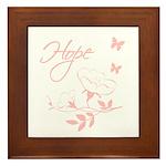 Breast Cancer Hope Framed Tile
