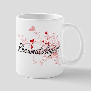 Rheumatologist Artistic Job Design with Heart Mugs