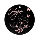 Breast Cancer Hope Ornament (Round)