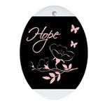Breast Cancer Hope Oval Ornament
