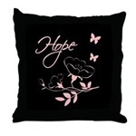 Breast Cancer Hope Throw Pillow