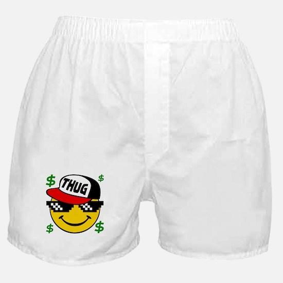 Smiley Thug Smilie Thug Emoticon Boxer Shorts