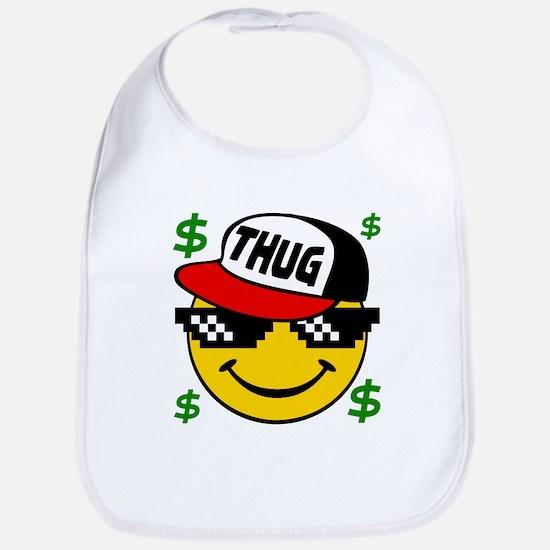 Smiley Thug Smilie Thug Emoticon Bib