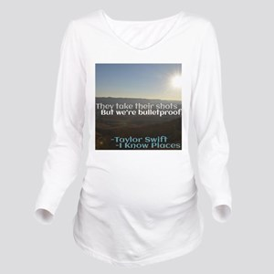 I Know Places Taylor Long Sleeve Maternity T-Shirt