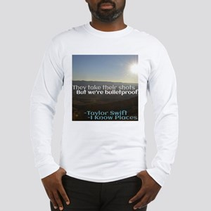 I Know Places Taylor Swift Lyr Long Sleeve T-Shirt