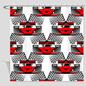 RED RACECAR Shower Curtain
