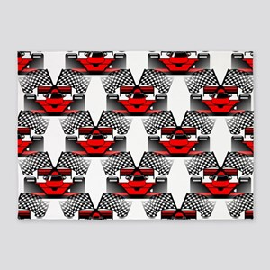 RED RACECAR 5'x7'Area Rug