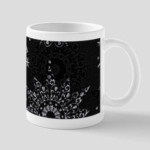 Xmas Snowflakes Silver Mugs