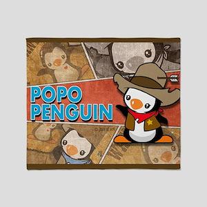 Popo Penguin Throw Blanket