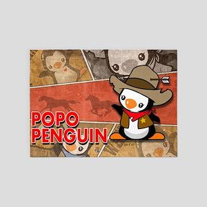 Popo Penguin 5'x7'Area Rug