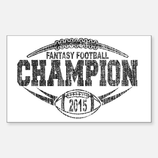 Cute Fantasy football trophies Sticker (Rectangle)