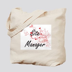 Site Manager Artistic Job Design with Hea Tote Bag