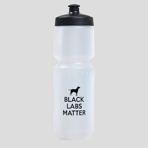 Black Labs Matter Sports Bottle