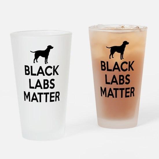 Black Labs Matter Drinking Glass