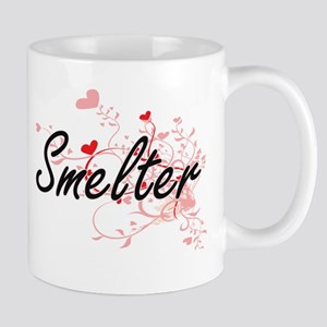 Smelter Artistic Job Design with Hearts Mugs